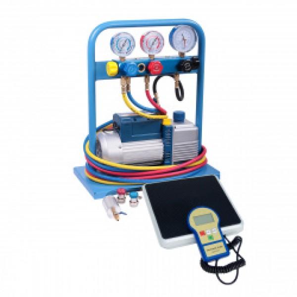Комплект для заправки кондиционеров,  standart AC-2025