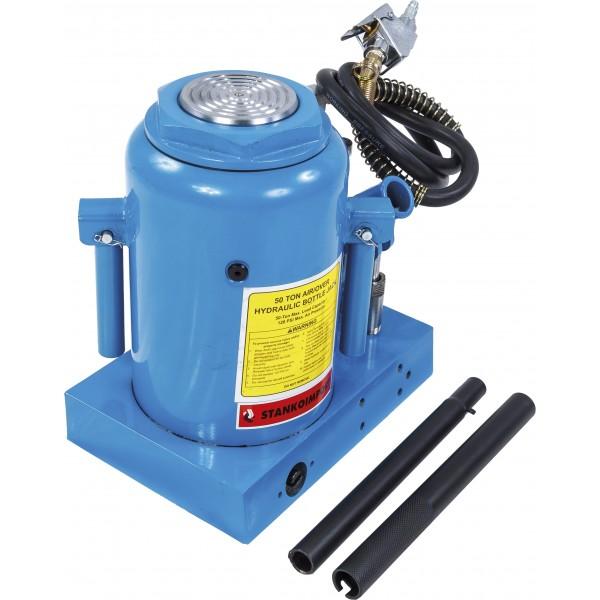 Бутылочный домкрат пневмогидравлический на 50 тонн, , синий, СТАНКОИМПОРТ SD2004