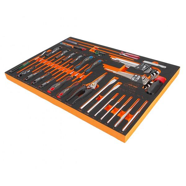 Набор инструментов 45 предметов слесарно-монтажный (MERCEDES) в ложементе JTC JTC-MB3045