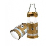 F-RF-D017(gold) Forsage Фонарь трансформер  светодиодный аккумуляторный Gold (1 LED+6 LED, зарядка 220V + солнечная батарея)