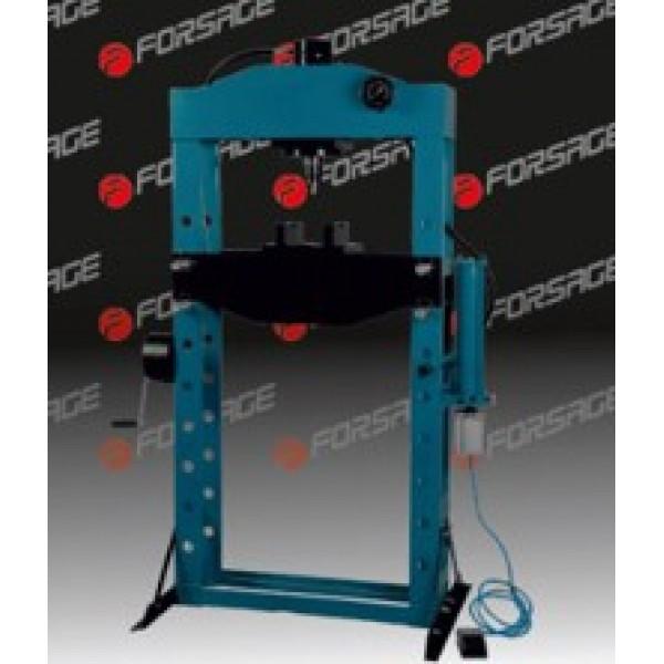 Forsage Пресс гидравлический с манометром напольный 75т, ручной/пневмо привод (раб. высота:0-1100мм, раб. ширина:800мм, раб. стол:270х800мм,ход штока:280мм) F-75021