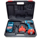 Шуруповерт аккумуляторный Forsage electro CDM12V-Ni-cd (12 V, 0-350/1200 об/мин, max ф 10 мм, 30 Nm, 2АКБx 1.5 Ah Ni-cd)