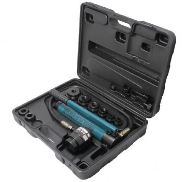 Forsage Гидроцилиндр обратного действия с насосом и комплектом надставок, 10т (диаметры: 22, 27, 34, 43, 49, 60мм) F-71002