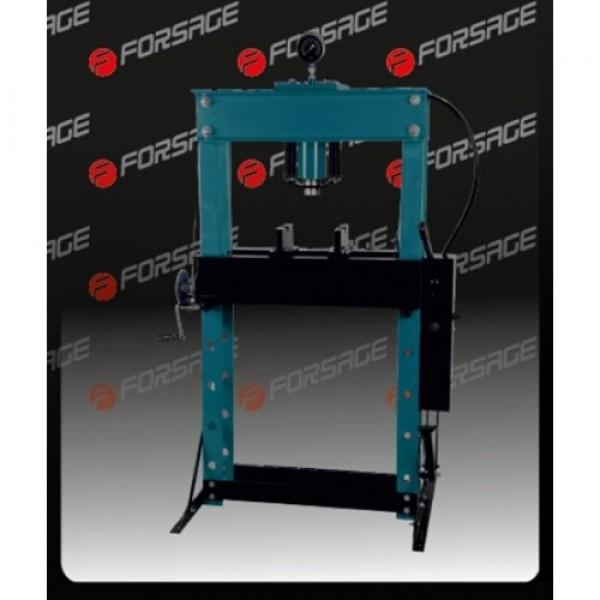 F-TY45001 Forsage Пресс гидравлический напольный 45т, ручной/пневмо привод  (рабочая высота: 0-865мм, рабочая ширина: 645мм, рабочий стол: 325х645мм, ход штока: 190мм)