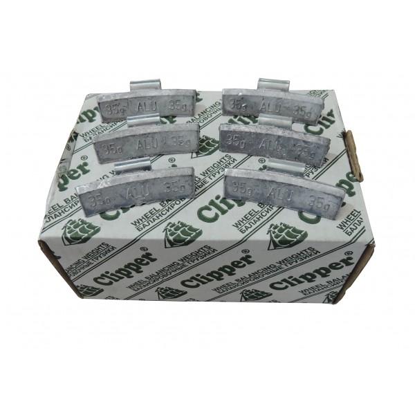 Грузики балансировочные для литых дисков 35 гр. CLIPPER 0335 (НАБОР 50 ШТ.)