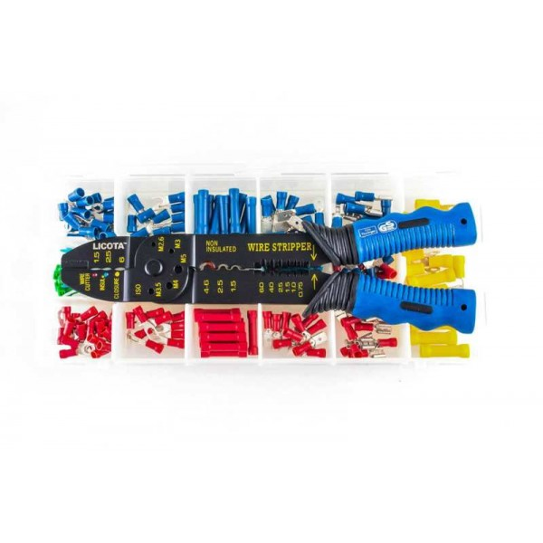 Набор для обжимки с клещами и клеммами 201пр LICOTA TCP-10026