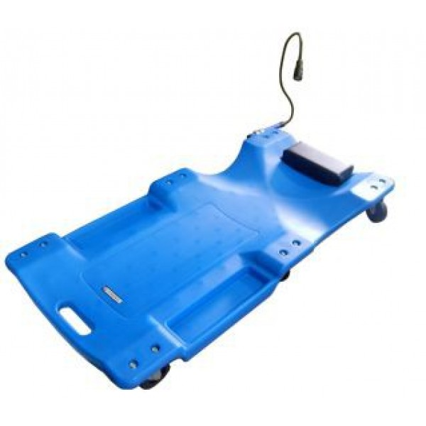 "Forsage  Лежак для автослесаря пластиковый на 6-ти колесах с фонарем на гибком удлинителе 40"" (1050х490х95мм) F-TRH6802-1"