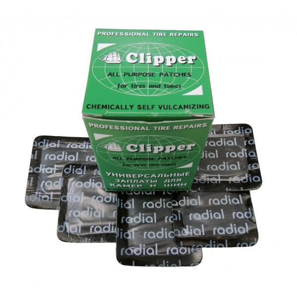 Заплаты универсальные 55*55мм CLIPPER H408 (набор 25 шт.)