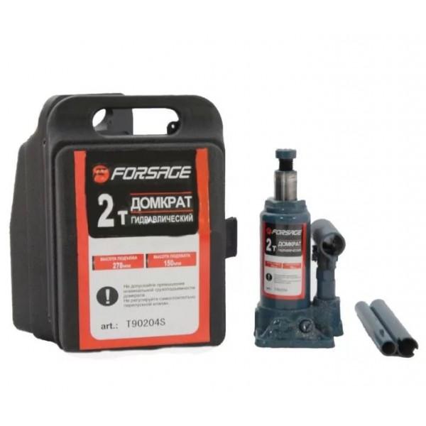 Forsage Домкрат бутылочный  2 т с клапаном (h min 150мм, h max 278мм,вес 2,6 кг) в кейсе F-T90204S