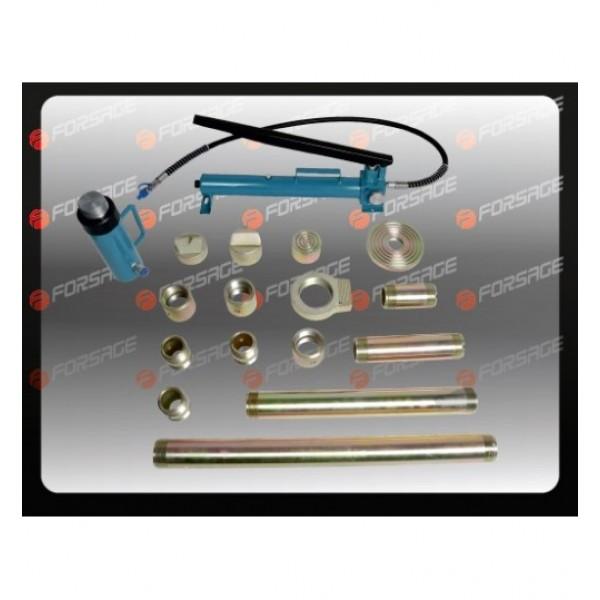F-0020B Forsage Набор гидравлического оборудования для кузовных работ, 20т, 17пр (насос, цилиндр + комплект удлинителей и надставок), в двух металлических кейсах F-0020B NEW(TRA0204-1(2 ч)(к,15432)