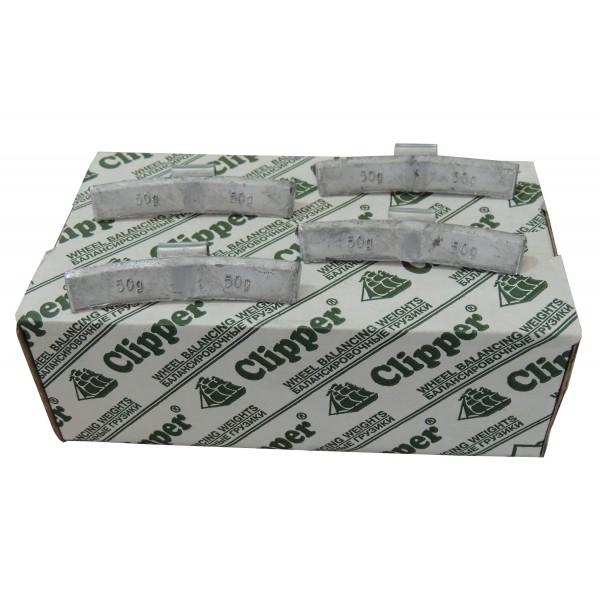 Грузики балансировочные для литых дисков 50 гр. CLIPPER 0350 (НАБОР 50 ШТ.)