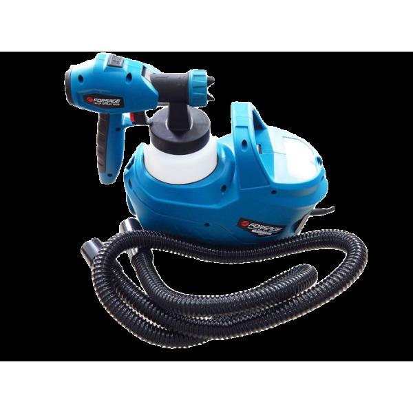 Краскопульт ручной электрический Forsage electro SG60-750F (220В, 750Вт, бачок 0.8л, сопло 1.8/2.6мм, вязкость до 60din) с компрессором и шлангом