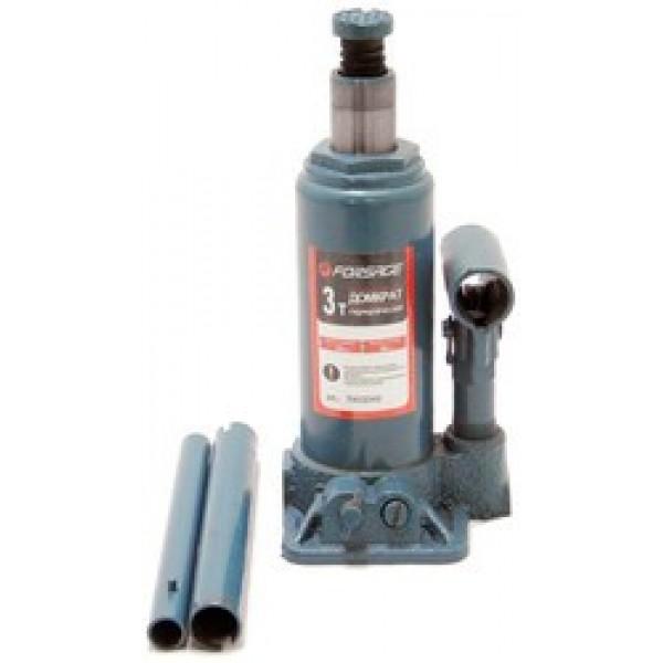 Forsage Домкрат бутылочный  3 т с клапаном (h min 180мм, h max 340мм,вес 3,2 кг) F-T90304
