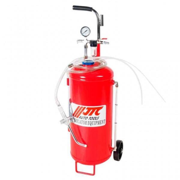 Установка для подачи смазки пневматическая, емкость бака 25л JTC /1