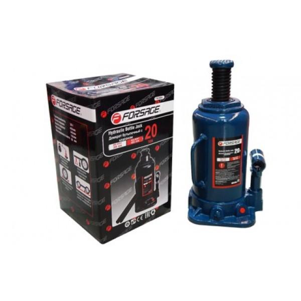 Forsage Домкрат бутылочный 20т с клапаном (h min 240мм, h max 450мм,вес 10,5 кг) с дополнительным ремкомплектом F-T92004