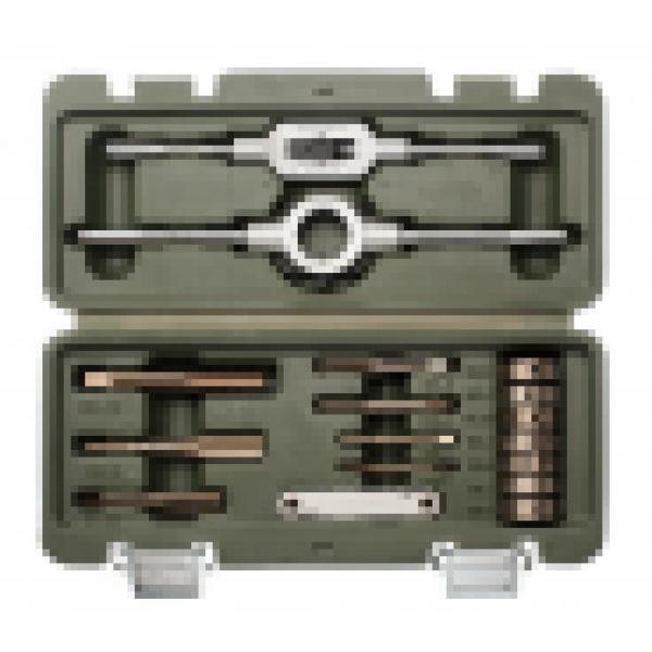 Набор метчиков и плашек 16 предм. HSS4341 (M3-М12, стандартные резьбы) ДЕЛО ТЕХНИКИ 239160