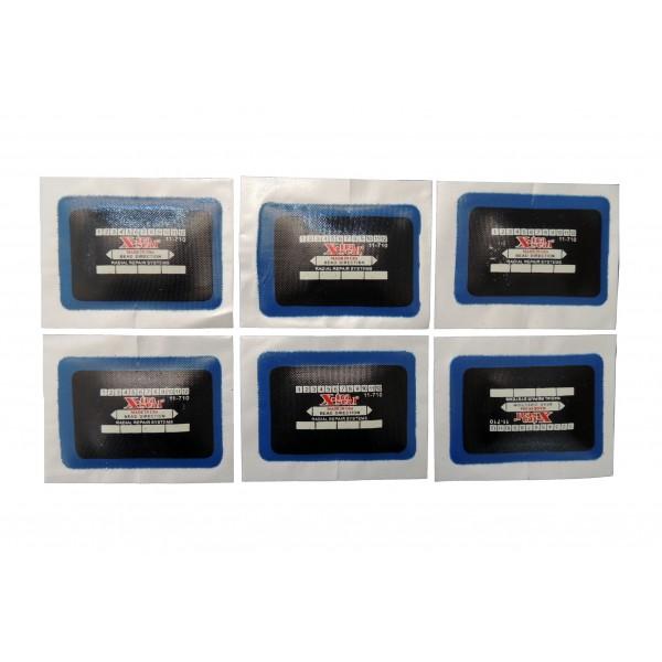 Заплаты радиальные 50х76 мм (набор 20 шт.) X-TRA SEAL 11-710