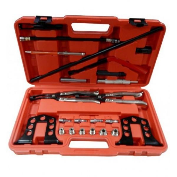 Forsage F-04A2079 Рассухариватель клапанов в комплекте со щипцами для маслосъемных колпачков, 25пр. в кейсе