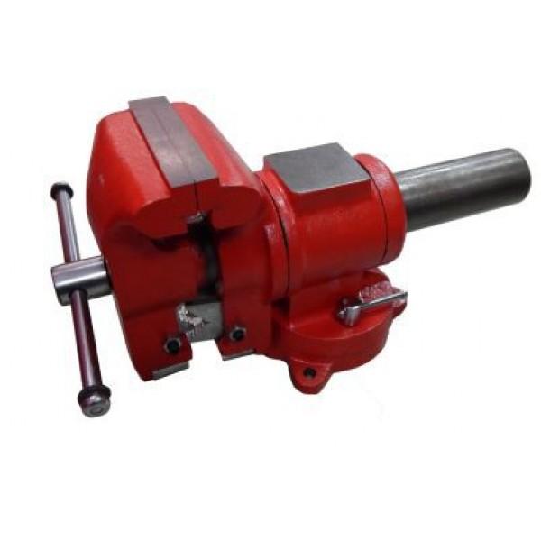 """Forsage Тиски стальные поворотные в двух плоскостях  с наковальней + захват для труб 4"""" - 100мм F-MV6540204"""