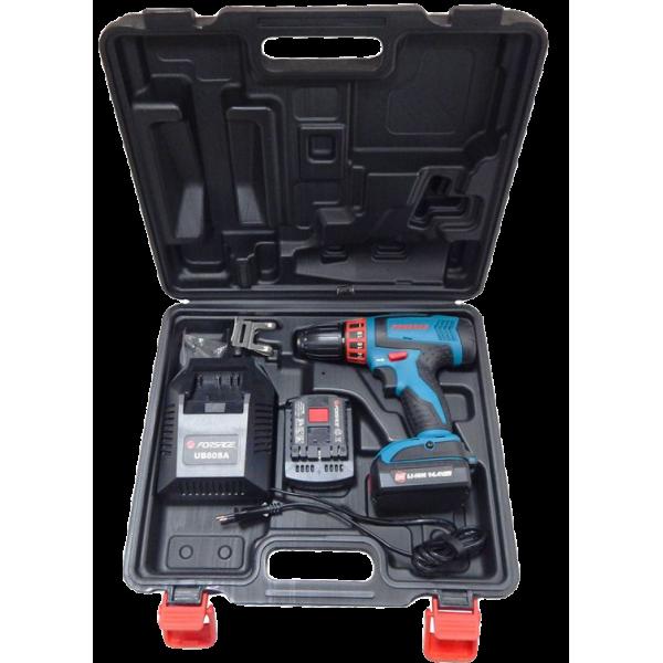 Шуруповерт аккумуляторный Forsage electro CDA14,4V-Li-ion (14.4V, 0-350/1350 об/мин, max ф10 мм, 42 Nm, 2АКБх1.5 Ah Li-ion)