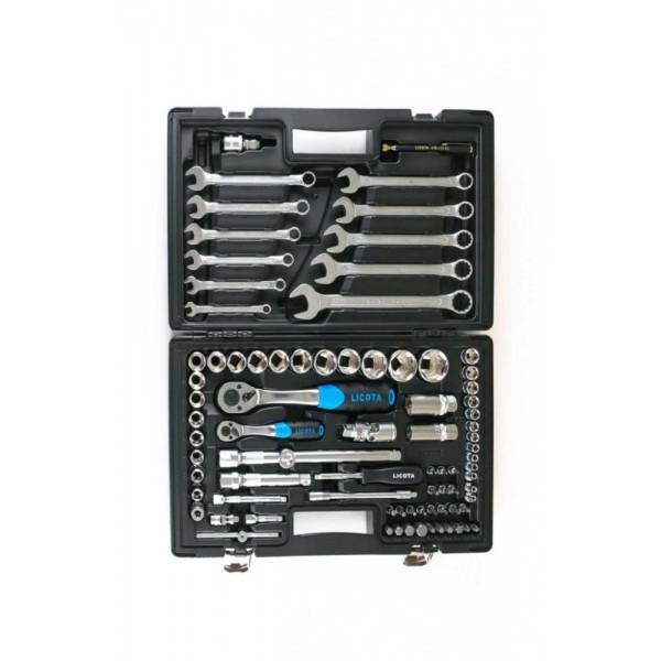 """Набор инструмента 1/4"""" и 1/2"""" 6гр. 83пр LICOTA ALK-8015F"""