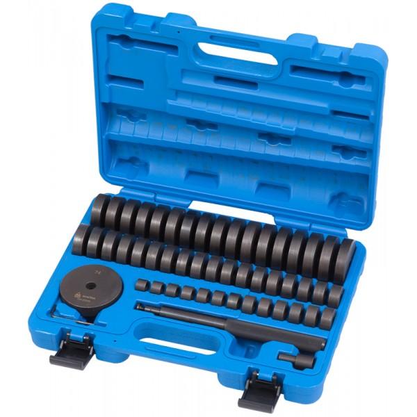 Набор оправок для монтажа и демонтажа подшипников, 18-74 мм, кейс, 49 предметов МАСТАК 100-20049C