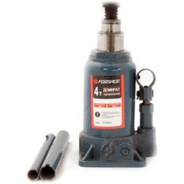 Forsge Домкрат бутылочный двухштоковый с клапаном, 4т(подхват-230мм, подъем-565мм, ход штока-280мм, ход выкручиваемого винта-55мм) F-TF0402