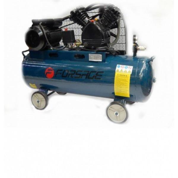 Компрессор Forsage F-TB265-100  100 л 2-х поршневой с ременным приводом (2.2кВт, ресивер 100л, 250л/м, 220В)