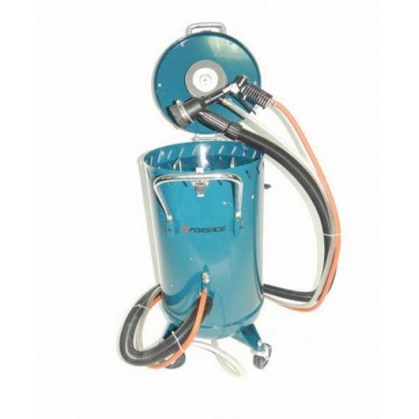 Передвижной пескоструйный аппарат инжекторного типа Forsage F-SB28G (бак 75л, 170-710л/мин, 4-8,5атм)