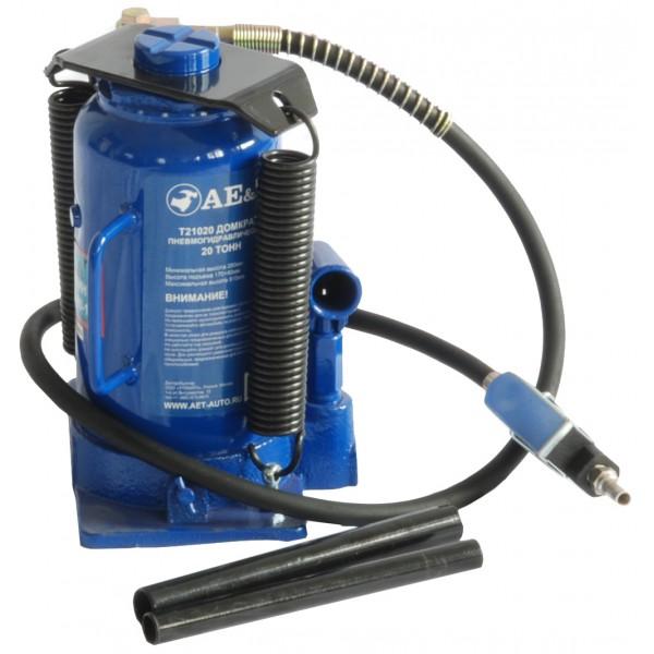 Домкрат пневмогидравлический бутылочный  AE&T 20т T21020