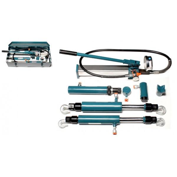 Forsage Комплект гидравлического оборудования прямого и обратного действия 4т, 5т, 10т в металлическом кейсе F-0200-2