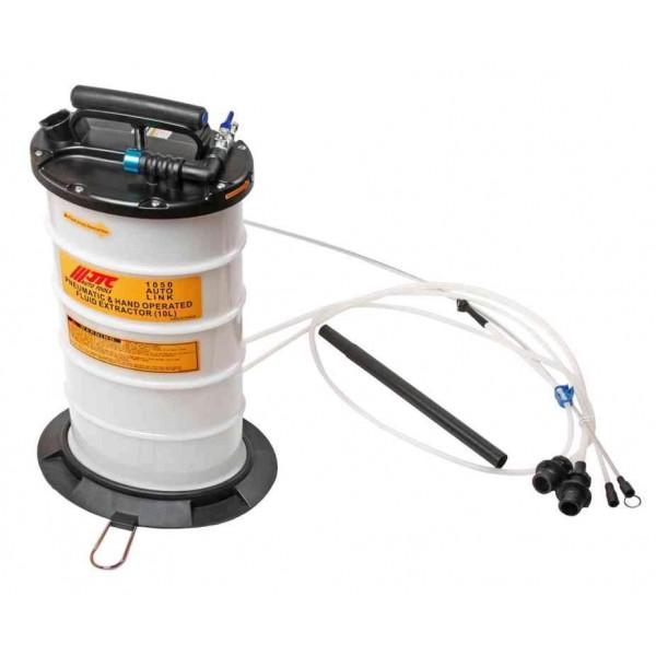 Приспособление для откачки технических жидкостей с ручным и пневматическим приводом, емкость 10л JTC /1