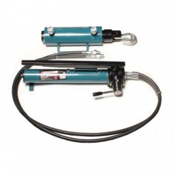 F-0200-4 Forsage Комплект гидравлического оборудования прямого и обратного действия 40т (насос, цилиндр + 2 сменных крюка) (объем масла - 1.2л, давление - 630 bar )