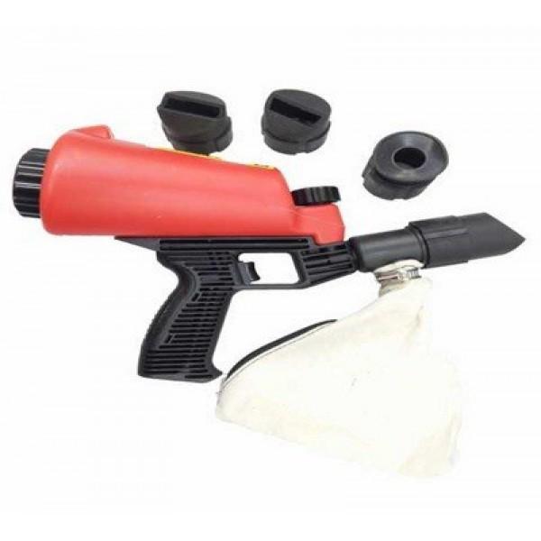 Пескоструйный пистолет Forsage F-HSB-I со встроенной емкостью для песка 1л и резиновыми насадками (4шт)