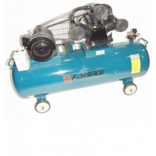 Компрессор Forsage F-TB390-300  300л 3-х поршневой с ременным приводом (7.5кВт, ресивер 300л, 900л/м, 380В)