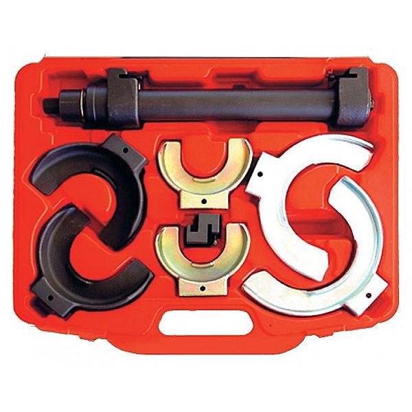 Стяжка пружин 75-190mm набор 8пр.(3 пары насадок) Автодело *Professional* 41509