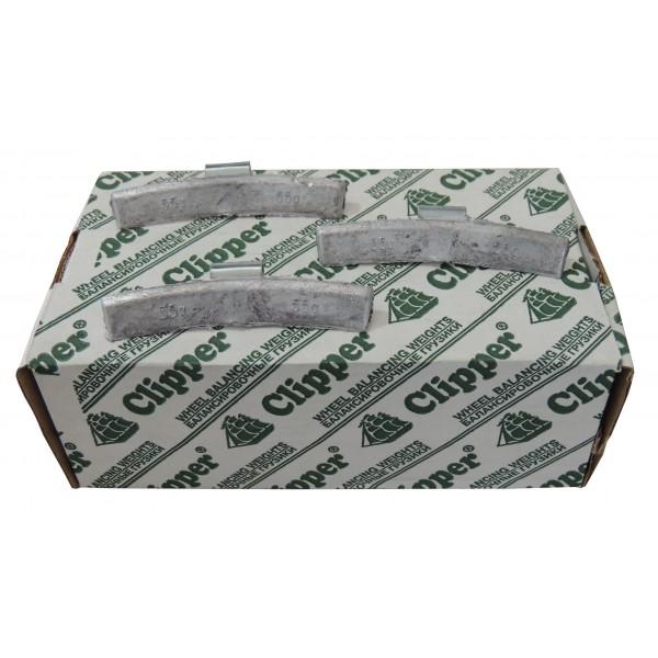Грузики балансировочные для литых дисков 55 гр. CLIPPER 0355 (НАБОР 50 ШТ.)