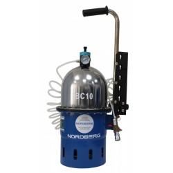 Установка пневматическая для прокачки тормозной системы и системы сцепления, объем 10 л. NORDBERG BC10